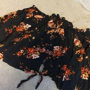 Off the shoulder floral blouse